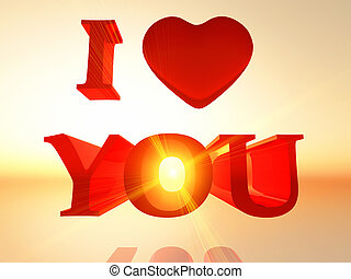 The Word I Love You In  D Letters