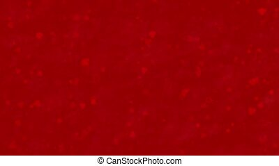 Love themed red animated background with moving hearts and roses for Valentine's Day