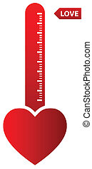 Love Thermometer - Illustration Of Thermometer Indicating...