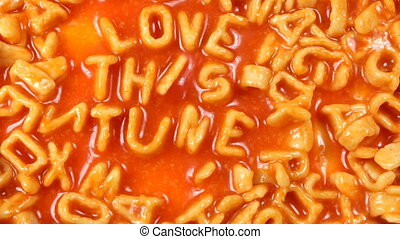 love this tune written with alphabetti spaghetti