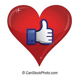 love thumb up illustration design