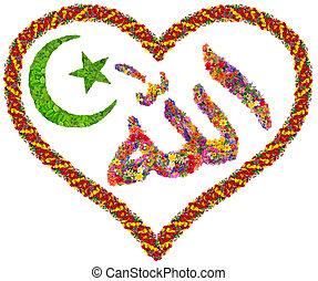 Love to Allah concept