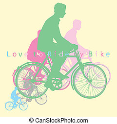 love to ride bike