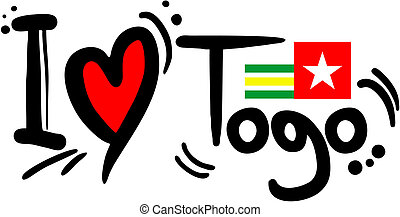 Creative design of love Togo