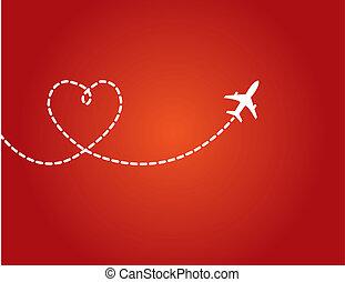 Love Travel Concept