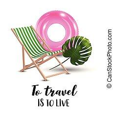 Love travel concept illustration in vector.