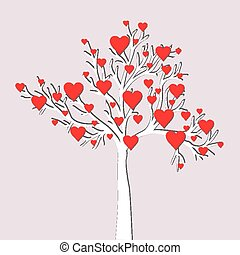 Love tree card