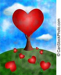 love tree concept illustration