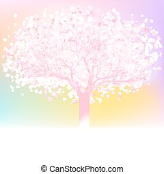 Love tree made of hearts with copy space. EPS 8