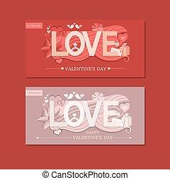 Love typography. Vector illustration