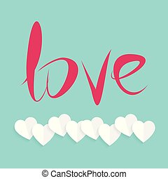Love typogrpahic card with light background