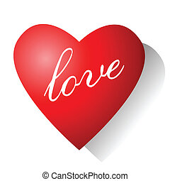 Love. Valentine card.