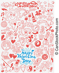 Love, Valentine Day - doodles collection