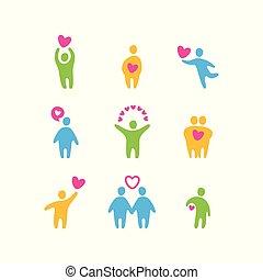love valentine icons