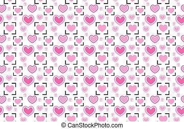 Love valentine seamless pattern vector