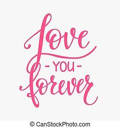 Love Valentines Day quote typography