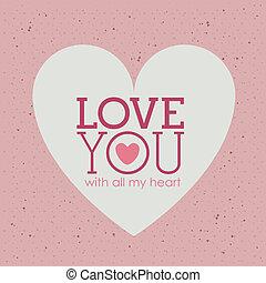 love - love design over pink background vector illustration...