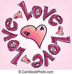 Love. Vector illustration