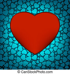 Love vector made from blue hearts. EPS 8