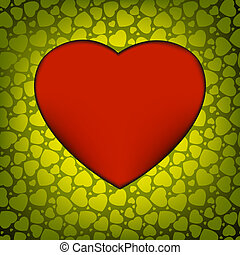 Love vector made from green hearts. EPS 8