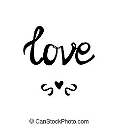 Love vector sign isolated on white background
