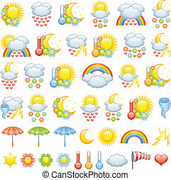 Love weather icons for valentine%u2019s day and weather icon...