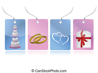 love weeding set of tags