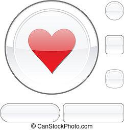 Love white button.