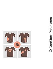 Love with no answer - Conceptual set of t-shirt print...
