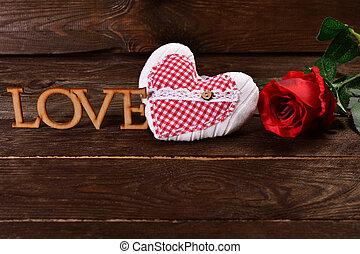 love wooden background