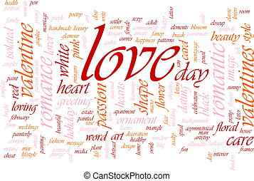 love word cloud word cloud concept illustration of love romance