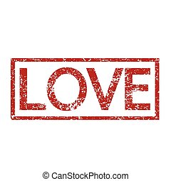 Love word  illustration