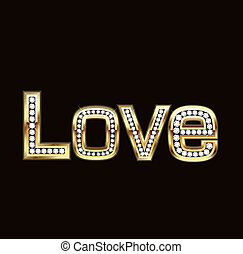 Love word in bling