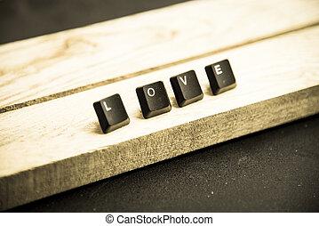 Love word on the wooden floor1