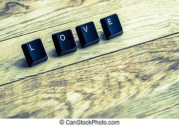 Love word on the wooden floor2