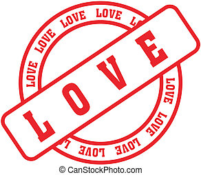love word stamp7 - love in vector format