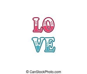 Love word vector icon