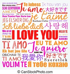 """love words """"I love you"""" in all languages of the world, word..."""