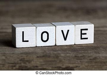Love, written in cubes