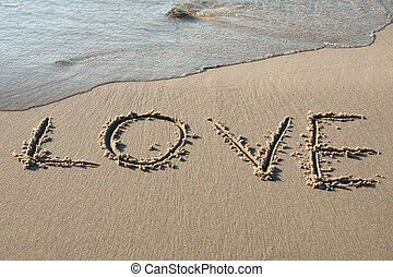 Love written in the sand