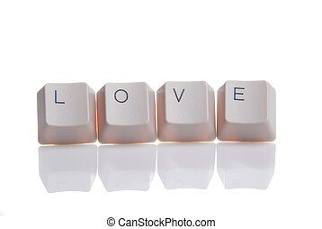 LOVE written with keyboard buttons