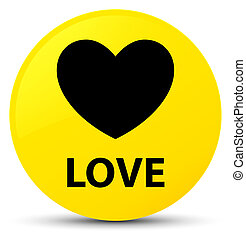 Love yellow round button