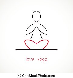 Love Yoga Vector