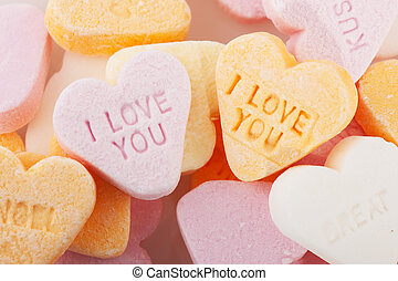 Love you candy hearts