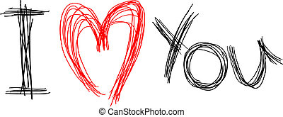 Love you - Creative design of love you