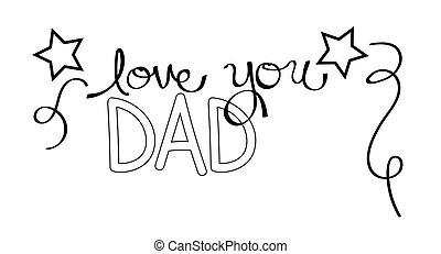 Love You Dad Coloring Page