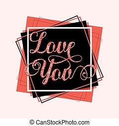 Love you greeting card template