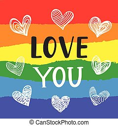 Love You Inspirational Gay Pride poster