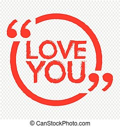 LOVE YOU lettering Illustration design