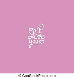 Love you lettering Valentine vector design - Love you...